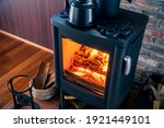 A Room With Wood Burning Stove.