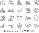 empathy line icon set. included ... | Shutterstock .eps vector #1921458431