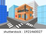 orange lodgings building for...   Shutterstock .eps vector #1921460027