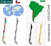 map of the republic of chile... | Shutterstock .eps vector #192147344
