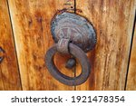 Vintage Door Knocker In The Old ...