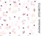 seamless simple pattern. pink... | Shutterstock .eps vector #1921481711