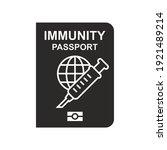 immunity passport icon. vaccine ... | Shutterstock .eps vector #1921489214