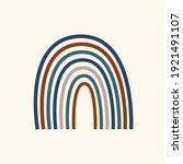 rainbow arch pattern. rainbow...   Shutterstock .eps vector #1921491107