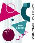 geometric cover design.... | Shutterstock .eps vector #1921492391