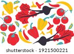 vegetables set abstract vector... | Shutterstock .eps vector #1921500221
