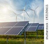 solar panels under blue sky | Shutterstock . vector #192150611