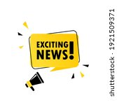 megaphone with exciting news... | Shutterstock .eps vector #1921509371