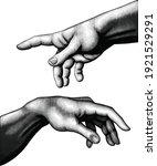god's helping hand. art... | Shutterstock .eps vector #1921529291