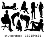 people silhouettes | Shutterstock .eps vector #192154691