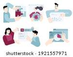 set of flat design people... | Shutterstock .eps vector #1921557971