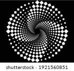White Halftone Dots In Vortex...