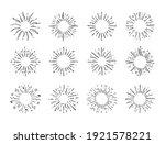 hand drawn starburst. doodle... | Shutterstock .eps vector #1921578221