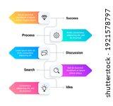 flowchart. timeline business... | Shutterstock .eps vector #1921578797
