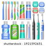 vector set for dental care  lot ... | Shutterstock .eps vector #1921592651