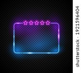 glowing neon vectord frame with ...   Shutterstock .eps vector #1921596404