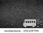 bus road and asphalt background ... | Shutterstock .eps vector #192159794