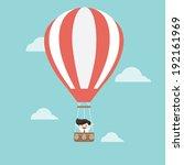 businessman in hot air balloon | Shutterstock .eps vector #192161969