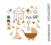 poster with bohemian baby... | Shutterstock .eps vector #1921621007