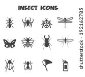 insect icons  mono vector...