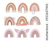 a set of boho rainbows. cute... | Shutterstock .eps vector #1921637441