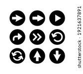 arrow button icon set. arrow...