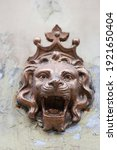 Lion Head With Crown Bronze...