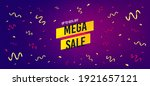 mega sale sticker. festive... | Shutterstock .eps vector #1921657121