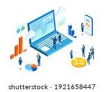 isometric 3d business... | Shutterstock .eps vector #1921658447
