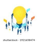 isometric 3d business... | Shutterstock .eps vector #1921658474