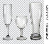 Three Transparent Glass Goblet...