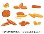 vector illustration with set ... | Shutterstock .eps vector #1921661114