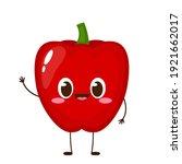 cute red sweet pepper character....   Shutterstock .eps vector #1921662017