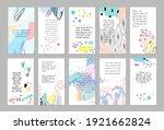 set of abstract art templates.... | Shutterstock .eps vector #1921662824