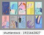 set of abstract art templates.... | Shutterstock .eps vector #1921662827