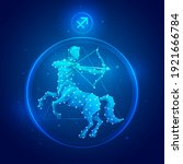 sagittarius zodiac sign icons.... | Shutterstock .eps vector #1921666784