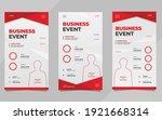 set of minimalist background... | Shutterstock .eps vector #1921668314
