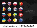european countries flags vector ... | Shutterstock .eps vector #1921674947