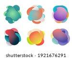 badges set of fluid or liquid...   Shutterstock .eps vector #1921676291