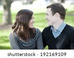 a happy  young and romantic... | Shutterstock . vector #192169109