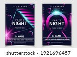 night dance party music layout... | Shutterstock .eps vector #1921696457