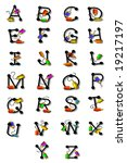 alphabet letters a z are... | Shutterstock . vector #19217197