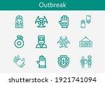 premium set of outbreak line... | Shutterstock .eps vector #1921741094