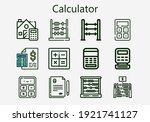 premium set of calculator icons....