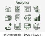 premium set of analytics  s ... | Shutterstock .eps vector #1921741277