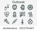 premium set of outbreak  s ... | Shutterstock .eps vector #1921741667