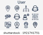 premium set of user  s  icons....