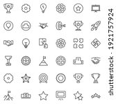 startup icon set. collection of ... | Shutterstock .eps vector #1921757924