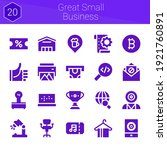 great small business icon set....
