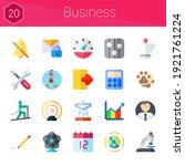business icon set. 20 flat...